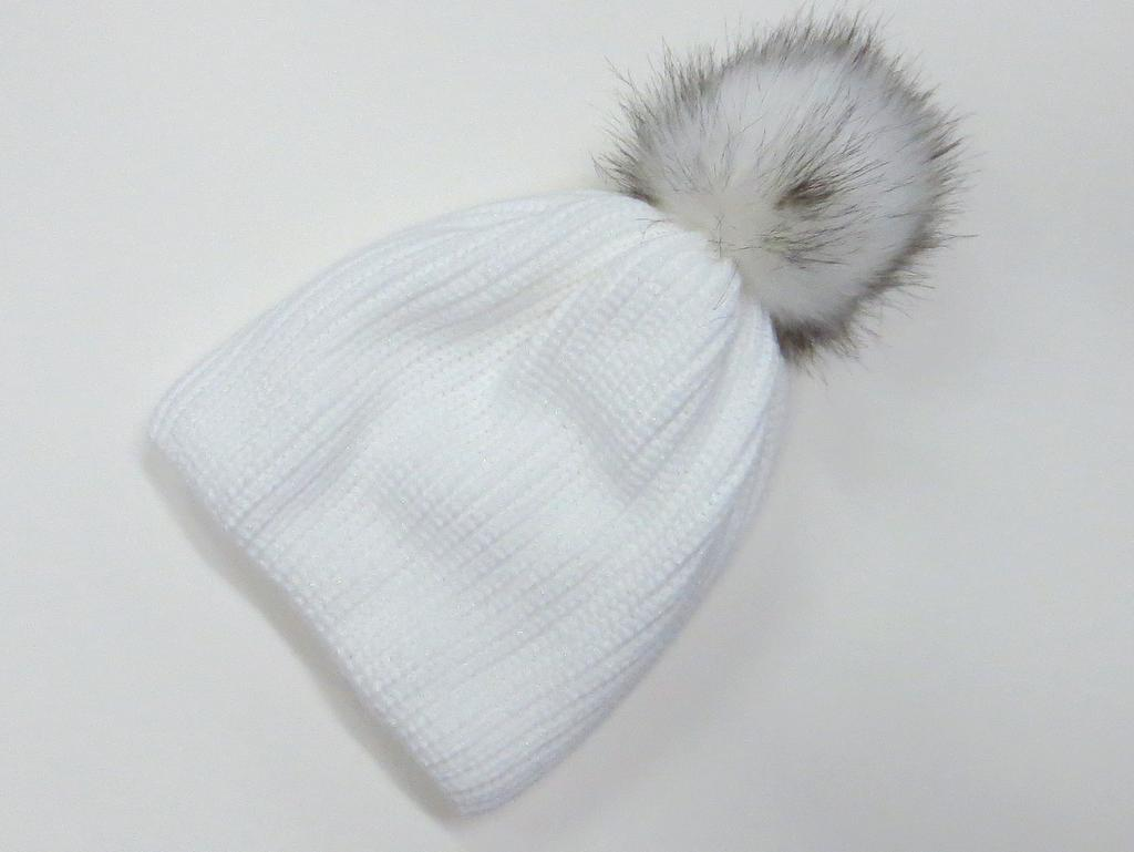2ff930e4b Dámska čiapka trblietavá - biela empty