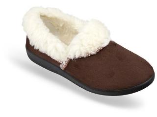 260121948d97 Dámske celé papuče hnedé- nízke empty