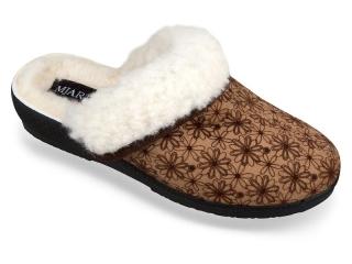 fcb55f8c299b Dámske zimné papuče Mjartan- bežové kvietky empty