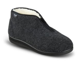 5ea4f0804ddd Dámske celé papuče s zipsom- filcové empty