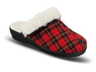 44417c9d7a74 Dámske zimné papuče Mjartan-karované empty